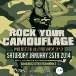 Rock Your Camo @ Aria Complex This Weekend [January 25]